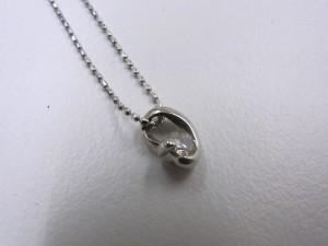 PT900ダイヤモンド付ネックレス アップ プラチナ買取 さいたま市 買取チャンピオン