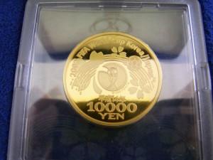 切手 インゴッド 金の延べ棒 金貨 金メダル 10万円金貨 5万円金貨 1万円金貨買取
