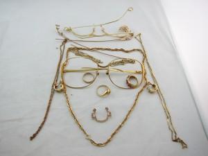 使わない金縁メガネ指輪ネックレスピアスK18買取 貴金属買取 さいたま市 買取チャンピオン