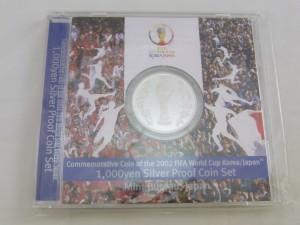 FIFAワールドカップ2002KOREAJAPAN1000円銀貨買取 記念硬貨買取 さいたま市 買取チャンピオン